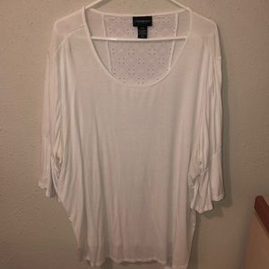 Plus Size 3/4 Bell Sleeve Blouse